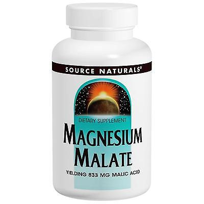 SOURCE NATURALS - MAGNESIUM MALATE - 1250mg x 180 VEGETARIAN TABS  - MALIC ACID
