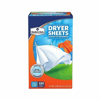 Fresh Clean Scented Fabric Softener Sheets ( 500 Per Package )