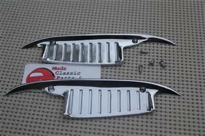61-64 Impala Chevy Biscayne Bel Air Chrome Door Handle Scratch Guards Pair New