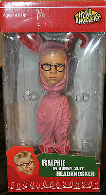 "Ralphie Pink Bunny Suit Headknocker-Bobblehead ""A Christmas Story"" Movie Figure"