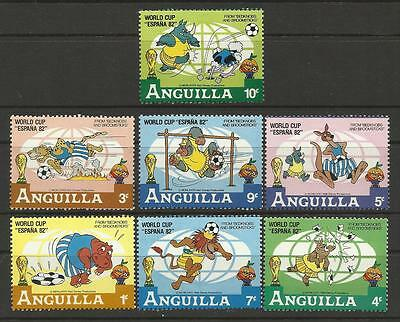 "ANGUILLA 1982 FOOTBALL WORLD CUP ""Espana 82"" DISNEY Cartoons Soccer 7v MNH"