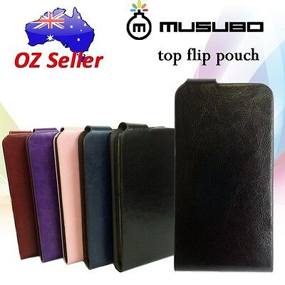 Genuine Musubo Leather Flip card cover case pouch For Apple iPhone 5 5S 5C SE