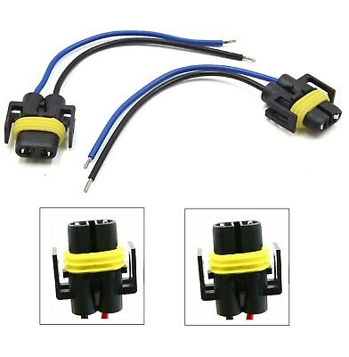 Wire Pigtail Female Plastic 886 Fog Light Two Harness Bulb Socket Connector Plug
