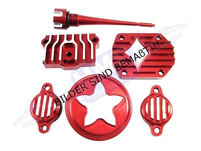 HMParts Dirt Pit Bike Monkey Performance Motordeckel Set Lifan 125-150 ccm Rot