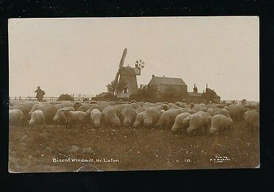 Beds Bedfordshire BISCOT Windmill near Luton 1918 RP PPC