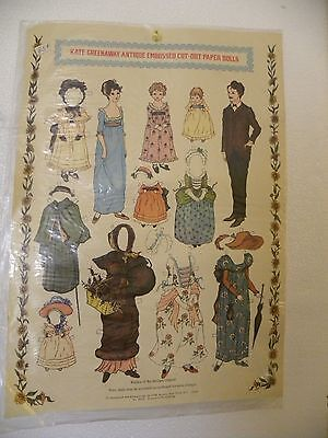 Antique Paper Doll and Clothes Kate Greenaway Replica Embossed