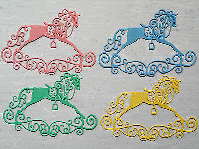 Rocking Horse Paper Die Cuts x2 Sets Baby Scrapbooking Embellishment - NOT a DIE