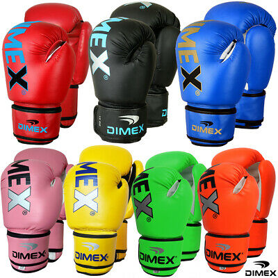 Boxing Gloves Sparring Gloves Punch Bag Training MMA Mitts Black Dimex All Sizes