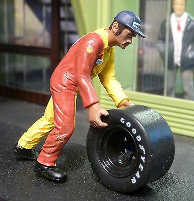 "Figur MECHANIKER Francis Team SHELL 1:32 auch für Carrera ""TOP DEKO""   LMF132037"
