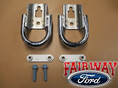 2015 F-150 OEM Genuine Ford Parts Chrome Tow Hooks PAIR with Hardware NEW