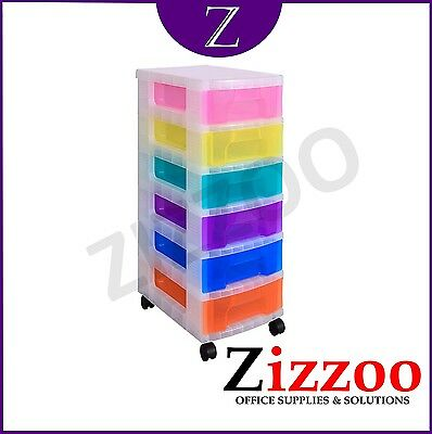 Storage Tower With 6 X 7 Litre Really Useful Drawers + Free P&p!
