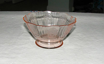 Depression Glass- Pink American Sweetheart Footed Sherbet, Lot of 6