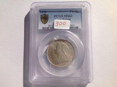 1896 Great Britain Florin in PCGS Holder MS 62!!!