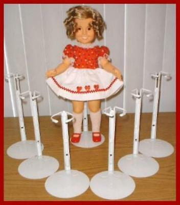 """NEW 6 stands Fit 12/"""" tall doll  VINTAGE SHIRLEY TEMPLE KAISER #2101 WHITE"""