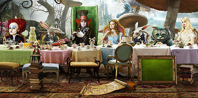 "Alice IN Wonderland Movie Silk Cloth Poster 47 x 24"" Decor 17"