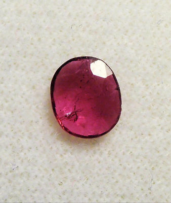 NICE .54 ct FACETED 5.75 x 5 mm CUSHION RUBY THAILAND # 7