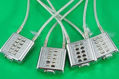 Universal Gun Lock Cable Lock Combination Lock - Lot of 4 (New)