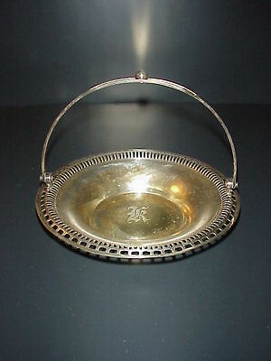Sheffield Nickel Silver Plate Miniature Bride's Basket Apollo