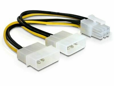 Y power cable for PCI Express card 2 x Molex 4pin Male > 6pin PCI Express 15cm