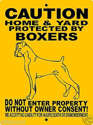 "BOXER DOG SIGN, 9""x12"" ALUMINUM SIGN,Guard Dog,Security Sign,Dog Sign,h2496hybox"