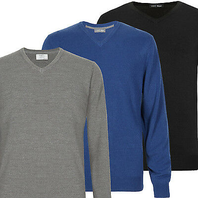 Marks & Spencer Mens V Neck Jumper Soft Knit Cotton Rich M&S Sweater PulloverTop