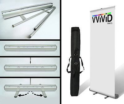 "2pcs Retractable Roll Up Banner Stand 31"" wide 79"" tall Display"