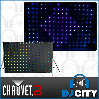 Chauvet MOTIONDRAPE-LED 176 SMD LED Backdrop DMX Free Carry Bag Disco DJ Club...