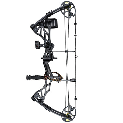 30-75 Lbs Apex Berserker Evolve Compound Bow Black Rts Kit For  Archery Hunting