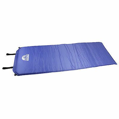 Self Inflating Camping Outdoor Azuma 5cm Thick Violet Comfy Mat Mattress Bed New