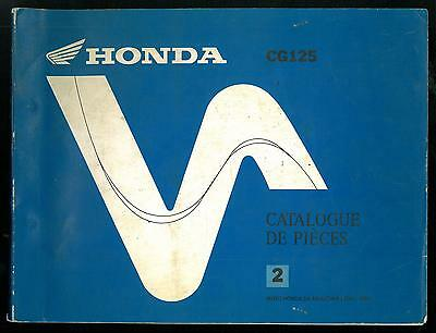 CATALOGUE de PIECES HONDA CG 125 BR - JC 18 PARTS LIST 1988 / 94 Manuel Français