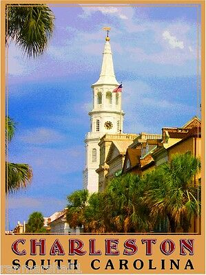 Charleston South Carolina United States of America Travel Advertisement Poster