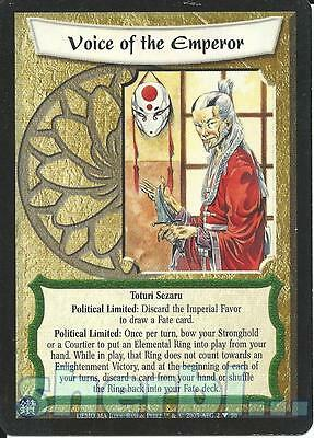 L5R Legend of the Five Rings Diamond VOICE OF THE EMPEROR