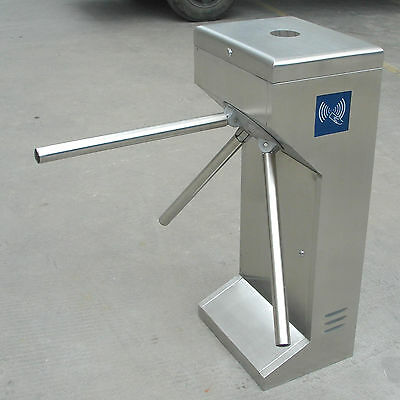 Semi-Auto Waist High Tripod Turnstile Intelligent Access Control 304# Stainless