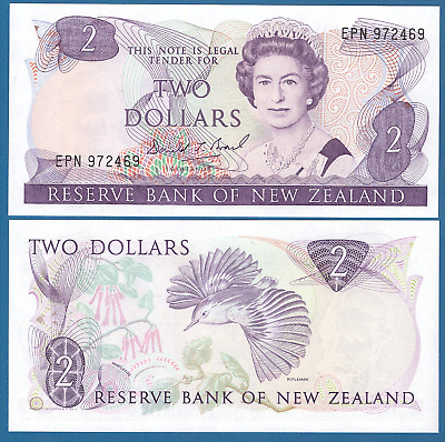 New Zealand 2 Dollars P 170c UNC ND(1989-92) Low Shipping! Combine FREE!