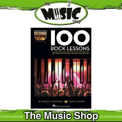New '100 Rock Lessons' Keyboard Lesson Goldmine Music Tuition Book & 2x CDs