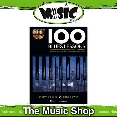 New '100 Blues Lessons' Keyboard Lesson Goldmine Music Tuition Book & 2x CDs