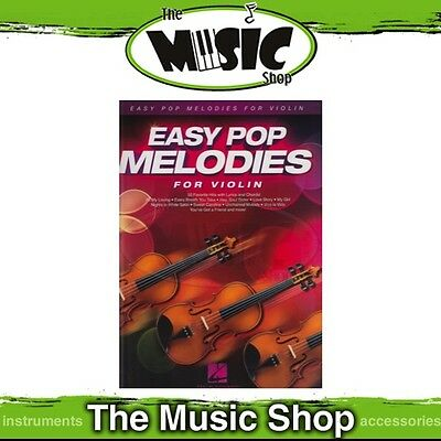 New Easy Pop Melodies for Violin Music Book - Beginners Songbook