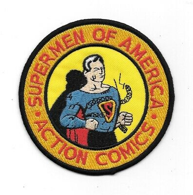Superman, Supermen of America Club 1950's Logo Embroidered Patch, NEW UNUSED
