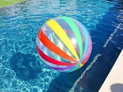 4 x Pool Toy Rainbow colours  Beach Ball 51cm inflated