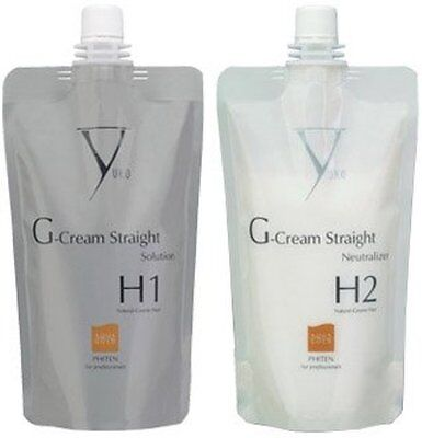 Yuko G Cream Straight Natural Coarse Hair Solution  H1 + H2