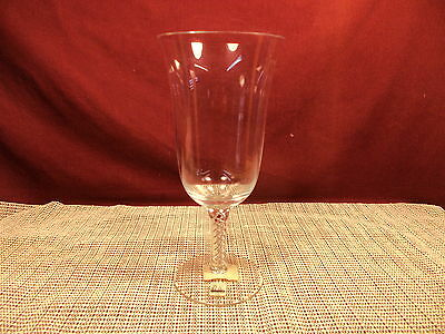 "Miller Rogaska Crystal Air Twist Pattern Iced Tea Goblet 8 1/4"" NWT"