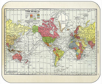 Mouse Pad - Thick Mousepad - Vintage World Map 1