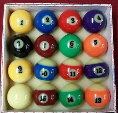 "NEW Glow In The Dark Pool Ball Billiard Set 2-1/4"" Standard SHIPS OUT SAME DAY!"