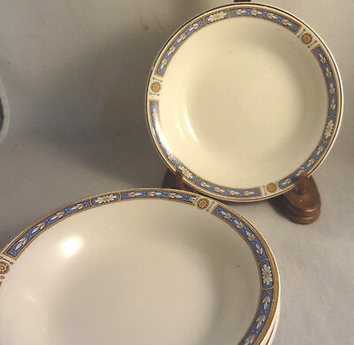MONMOUTH - GRINDLEY China FRUIT DESSERT SAUCE BOWLS (Set of 4)  Blue Bands