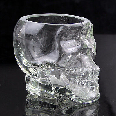Crystal Glass Vodka Whiskey Skull Head Shot Cup Drinking Ware Home Bar 75/150ml