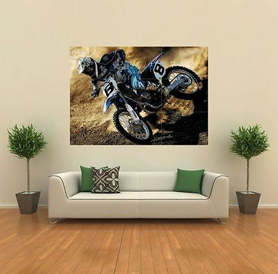 Yamaha Motocross Motorbike New Giant Art Print Poster Picture Wall X1438