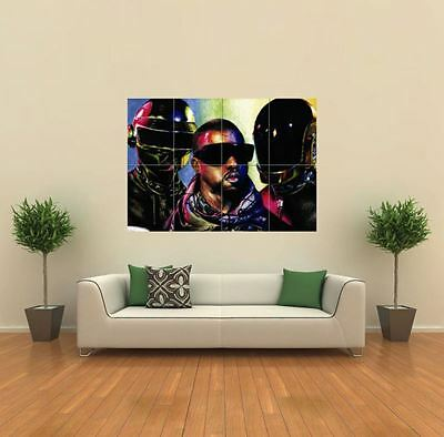 Kanye West Daft Punk New Giant Large Art Print Poster Picture Wall X221