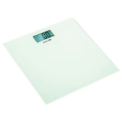 Camry White Slim Electronic Bathroom Scales Personal Body Weight Glass Platform