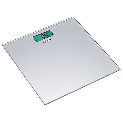 Camry Silver Slim Electronic Bathroom Scales Personal Body Weight Glass Platform