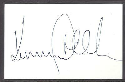 A 14cm x 9cm Plain White Card Signed by Kenny Miller of Celtic, Rangers, Wolves